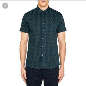 Ted Baker Mens short sleeve printed shirt